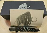 SANTA FE STONEWORKS Knife Woolly MAMMOTH San Mai DAMASCUS VG10 BLADE 4 Inch
