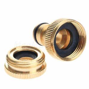 "3/4"" Brass Hose Tap Connector Threaded Garden Water Pipe Quick Adaptor"
