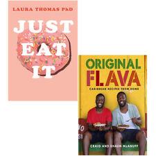 Just Eat It, Original Flava Caribbean Recipes 2 Books Set Food & Drink New