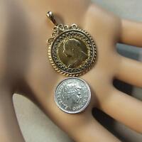 9 ct GOLD second hand victorian half sovereign mount