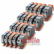 KIT 20 CARTUCCE COMPATIBILI CANON PIXMA IP4850 IP4950 IX6550 PGI-525 CLI-526