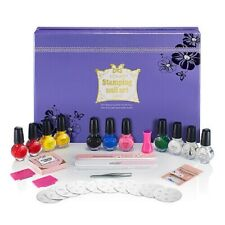Konad Stamping Nail Art Kit Special Set with 11 polishes 10 plates DVD MORE!