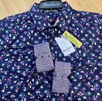 ROBERT GRAHAM 2XL Long Sleeve Button ALLEGRA Mens Classic Blue Abstract $198 New