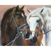 5D DIY Full Drill Diamond Painting Horse Cross Stitch Mosaic Kit (w1452) AU