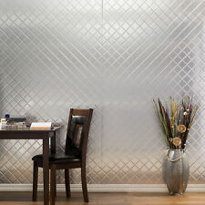 Fasade - 4ftx8ft x .013in Quilted Brushed Aluminum Decorative Wall Panel  C5408