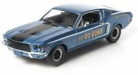 1:18 Greenlight - Jimbo's Pure Oil Go Go Gone Tribute Blue 1968 Mustang GT