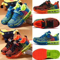 Kids Air cushion Knit Sneakers Lightweight Mesh Athletic Running Shoes Boys Girl