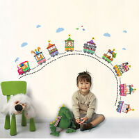 Childrens Educational Learn Circus Animals and Numbers Train Wall Sticker