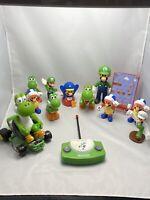 Nintendo Super Mario  Figures Set Mixed Bundle, Mario,yoshi,Luigi, Collectables