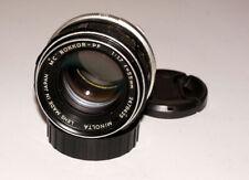 Minolta MC Rokkor-PF 55 mm 1.7 1:1.7/55 mm Artistic manual focus lens