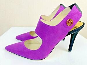 Michael Kors Sivian Slingback Pump 7M Pomegranate Suede Shoes Stiletto NWT $165