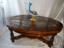 Antique Style Wood Less than 60cm Oval Coffee Tables