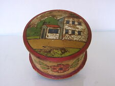 "Russian carved & painted box  c.1930 maked ""Made in Soviet Union"" folk art"