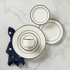 Kate Spade - Library Lane Navy 5-Piece Dinnerware Place Setting (Set of 8)