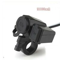 Waterproof 12V Motorcycle Motorbike USB Charger Power Adapter Socket For MP3 GPS
