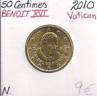 50 Centimes d'€uro - VATICAN - 2010 - BENOIT XVI // Pièce NEUVE