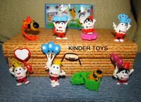 Kinder surprise comlete set: Kinderino Party 50 years anniversary 8 toys + paper