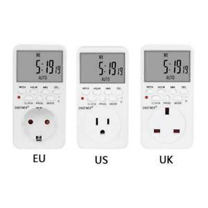 US EU UK Plug Outlet Digital Timer Socket Time Relay Switch Programmable Control