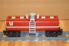 "NEW Lego Train Custom Octan Dark Red Tanker Car 9"" inches long MOC/RC/9V/CITY"