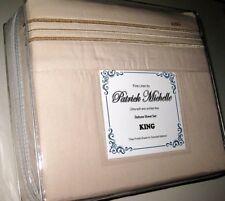 Nip Patrick Michelle Deluxe King Sheet Set Deep Pockets Golden Beige Microfiber