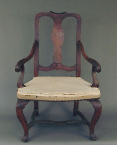 Very Old Queen Anne Armchair (Period?) -- for Restoration