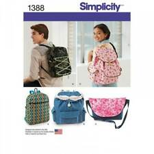 Simplicity Backpack & Messenger Bag Rucksack Sewing Patterns 1388