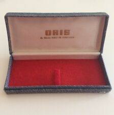Scatola ORIS Vintage Watch Box Blue 5.6 13.5 cm