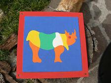 NUOVO Puzzle ad incastro in spugna dura rinoceronte