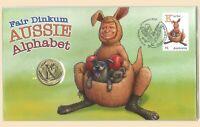 Australia 2017 Fair Dinkum Alphabet Letter 'K' Koala $1 Coin & Stamp PNC Cover