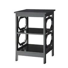 Convenience Concepts Omega End Table, Black - 203210BL