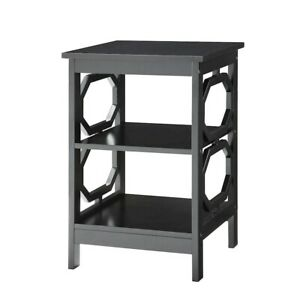 Convenience Concepts Omega End Table, Black - 203210BL