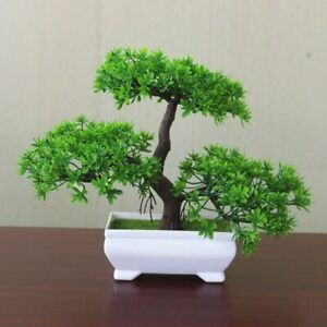 Artificial Welcoming Pine Bonsai Potted Plants Home Decor Simulation Artificial