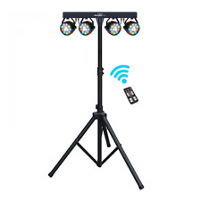 Kam Partybar Eco LED Lighting Par Can System Package inc Stand + Remote DJ