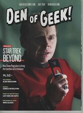 Den Of Geek Star Trek Beyond movie 2016 SDCC Comic-Con Simon Pegg cover magazine