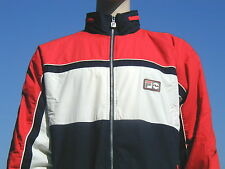 bnwt fila yachting style hooded fleece gefütterte jacke l-xl