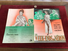 brochure de film N44 les week end de néron brigitte bardot