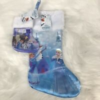 "NEW Disney Olaf's Frozen Christmas Stockings Elsa & Anna 18"" & 8"" NWT LOT of 2"