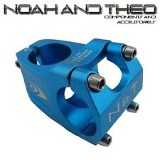 "Bicycle 40mm Short Stem 28.6mm or 1-1/8"" to 31.8mm Wave Road Handlebar MTB BLUE"