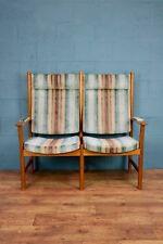Danish Mid Century Two Seater Seat, Bench, Sofa (100619)