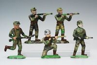 Speedwell RARE Japanese Jungle Fighters - Camouflage Plastic - 5 Toy Soldiers