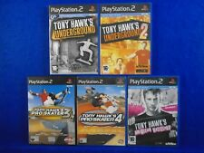 ps2 TONY HAWKS x5 Games PRO Skater 3 + 4 + UNDERGROUND 1 + 2 + Wastleland PAL UK