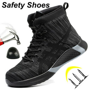 Mens Safety Trainers Hiking Boots Sneaker Steel Toe cap Work Outdoor Size UK