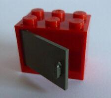 1 x LEGO® 4533/4532 Schrank,Kasten mit Tür/Klappe altdunkelgrau,rot 2x3x2
