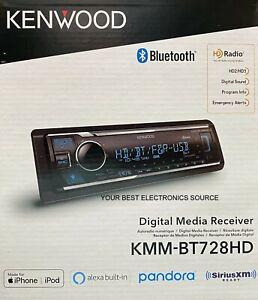 NEW Kenwood KMM-BT728HD 1-DIN Digital Media Receiver w/ Bluetooth & HD Radio