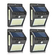 4pcs 100LED Solar Motion Sensor Wall Light Outdoor Garden Yard Walkway Path Lamp