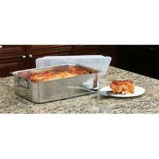 Cook Pro 531 4 Pc Stainless Steel Roaster & Lasagna Pan with Plastic Cover Al.