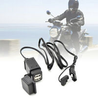Motorcycle Dual Bike SAE 12V to USB Charger Socket Port 2.1A Adapter Wiring Fuse