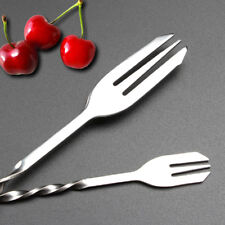 Twisted Mixing Spoon Bar Cocktail Drink Stirring Tool Stainless Steel Silver