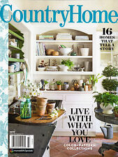 """COUNTRY HOME"" Magazine ~ Cottage Charms ~ Farmhouse ~ Modern Decorating ~ NEW"