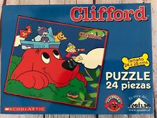Clifford the Big Red Dog 24 Piece Jigsaw Puzzle PBS Kids Cartoon SCHOLASTIC